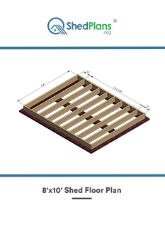 8x10 shed floor plan
