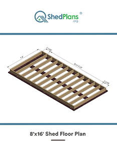 8x16 shed floor plan