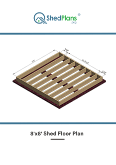 8x8 shed floor plan